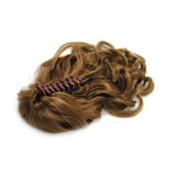 Ponytail Extensions hair claw, curly - Lyse brun #6