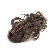 Ponytail Extensions hair claw, Curly - brun #4