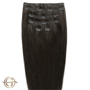 Clip on hair extensions #2 Dark Brown - 7 pieces - 60 cm   Gold24