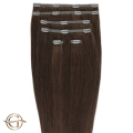 Clip on hair extensions #33 Copper brown - 7 pieces - 50 cm   Gold24
