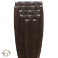 Clip on hair extensions #4 Chocolate Brown - 7 pieces - 60 cm   Gold24