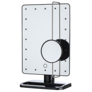 UNIQ® Hollywood Makeup Spejl med lys, Sort - LED Mirror x10