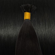 60 cm Cold Fusion hair extensions farvet Sort 1B#