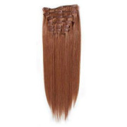 Clip on hair 40 cm #33 Rød