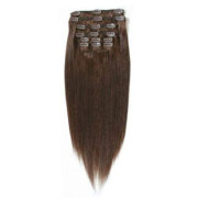 Clip on hair #4 50 cm Chokobrun