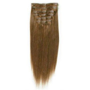 Clip on hair 40 cm #6 Brun