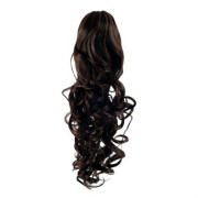 Pony tail Fiber extensions Curly Mørkebrun 2#