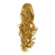 Pony tail Fiber extensions Curly Mellemblond 27#
