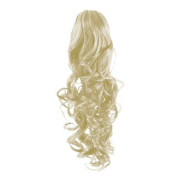 Pony tail Fiber extensions Curly White 60#