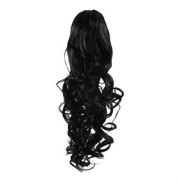 Pony tail Fiber extensions Curly sort 1#