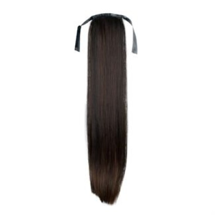 Pony tail Fiber extensions Straight Mørkebrun 2#