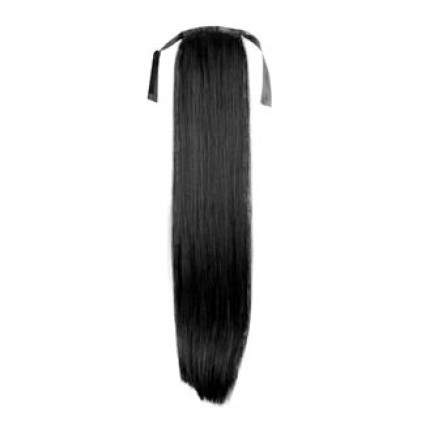 Pony tail Fiber extensions straight sort 1#
